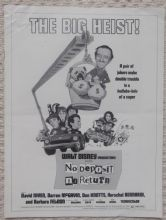 No Deposit No Return, Original Pressbook, David Niven, Darren McGaffin, '76